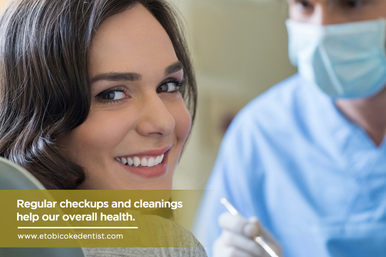 Regular checkups and cleanings help our overall health.