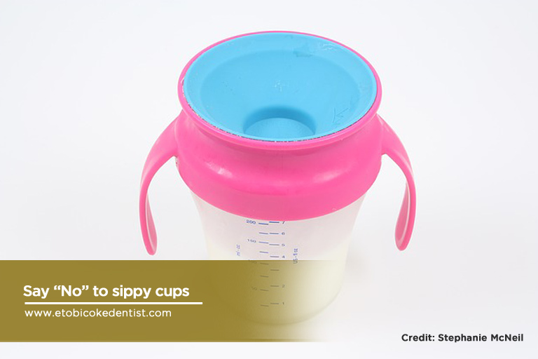 no to sippy cups