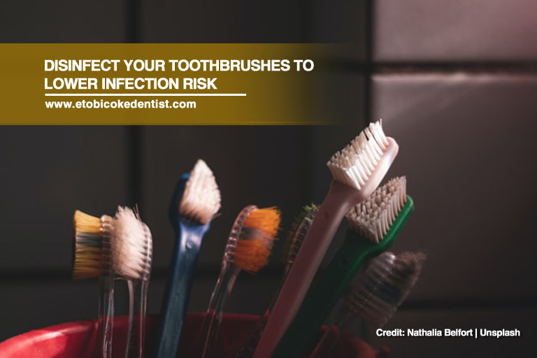 Disinfect your toothbrushes to lower infection risk